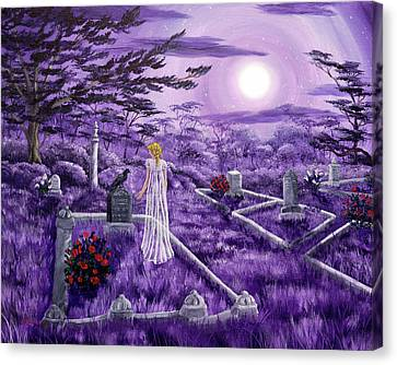 Lenore In Lavender Moonlight Canvas Print by Laura Iverson