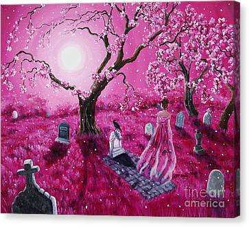 Lenore In The Breaking Dawn Canvas Print by Laura Iverson