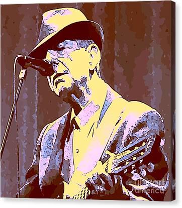 Leonard Cohen Canvas Print by John Malone