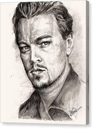 Leonardo Dicaprio Portrait Nr.2 Canvas Print by Alban Dizdari