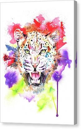 Leopard Canvas Print by Isabel Salvador