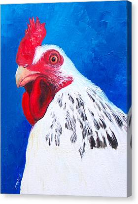 Leopold The Rooster Canvas Print by Jan Matson