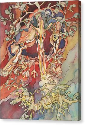 Les 4 Hippocampes Canvas Print by Liduine Bekman