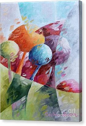Les Bonbons Canvas Print by Beatrice BEDEUR