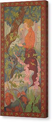 Les Digitales Canvas Print by Paul Elie Ranson