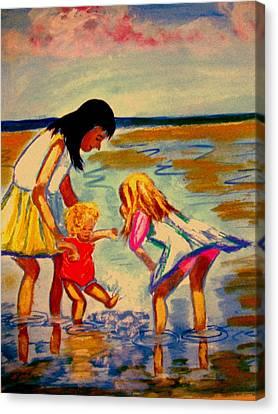 Les Mares Canvas Print by Rusty Woodward Gladdish