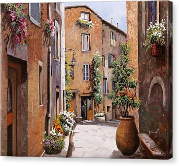 Les Tourrettes Canvas Print by Guido Borelli