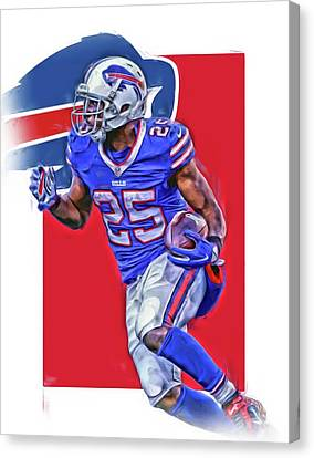 Lesean Mccoy Buffalo Bills Oil Art Canvas Print by Joe Hamilton