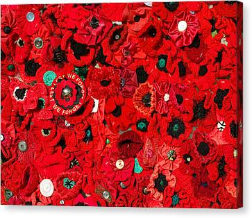 Lest We Forget Canvas Print by Wayne Sherriff