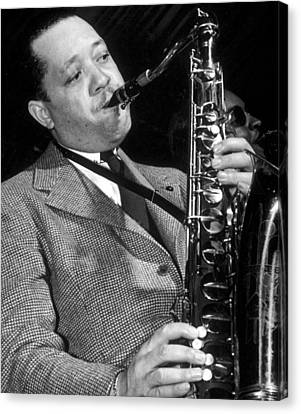 Lester Young  Canvas Print by American School