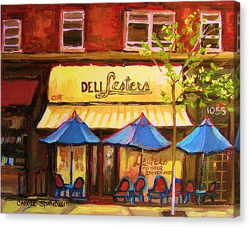 Lesters Cafe Canvas Print by Carole Spandau