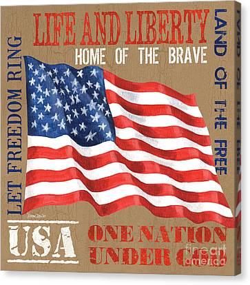 Let Freedom Ring Canvas Print by Debbie DeWitt
