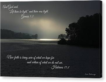Let There Be Light Bible Art Scripture Art Canvas Print by Reid Callaway