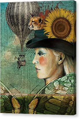 Let Your Spirit Soar Canvas Print by Katherine DuBose Fuerst