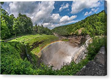 Letchworth State Park Gorge Canvas Print by Steve Harrington