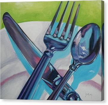 Let's Eat Canvas Print by Donna Tuten