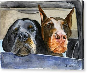 Let's Go For A Ride Canvas Print by Sheryl Heatherly Hawkins