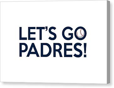 Let's Go Padres Canvas Print by Florian Rodarte