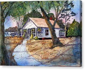 Let's Go To Grandma's - Watercolor Canvas Print by Barry Jones
