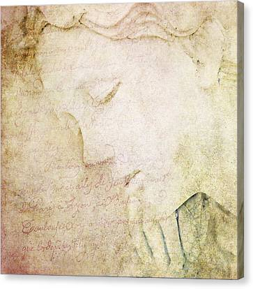 Lettre A Mon Amour Canvas Print by Theresa Tahara