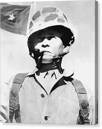Lewis Chesty Puller Canvas Print by War Is Hell Store