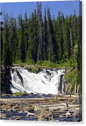 Lewis Falls Canvas Print by Marty Koch