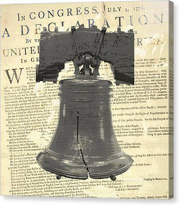 Liberty Bell Canvas Print by Brandi Fitzgerald