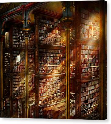 Library - It Starts With A Single Page 1920 Canvas Print by Mike Savad