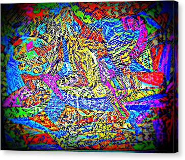 Life In Colors Canvas Print by Varsha Bodani