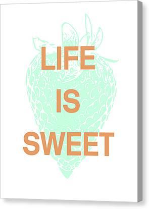 Life Is Sweet- Art By Linda Woods Canvas Print by Linda Woods