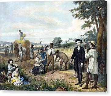 Life Of George Washington Canvas Print by Junius Brutus Stearns