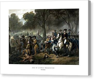 Life Of George Washington - The Soldier Canvas Print by War Is Hell Store