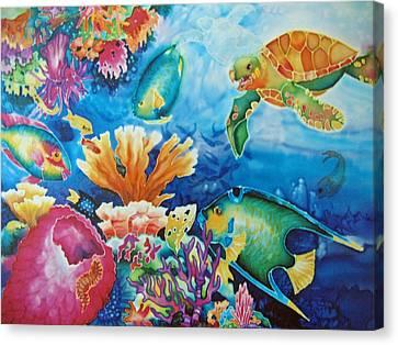 Life On The Ledge Canvas Print by Deborah Younglao