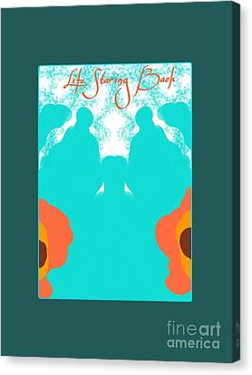 Life Staring Back Canvas Print by Marie Ward-Alonge