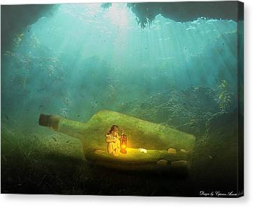 Life Underwater Canvas Print by Vasile Ciprian Axinte