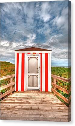 Lifeguard Hut Canvas Print by Elisabeth Van Eyken