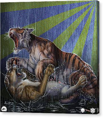 Liger  Release Canvas Print by David Starr