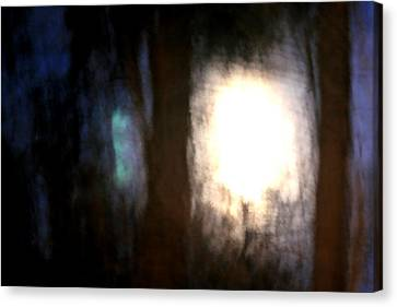 Light Breaking Through The Dark Forest Canvas Print by Johann Todesengel