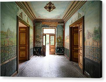 Light Come In - Deserted Castle Canvas Print by Dirk Ercken