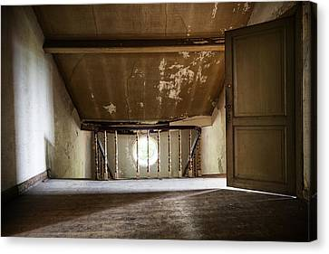 Light From The Spooky Attic - Abandoned Building Canvas Print by Dirk Ercken