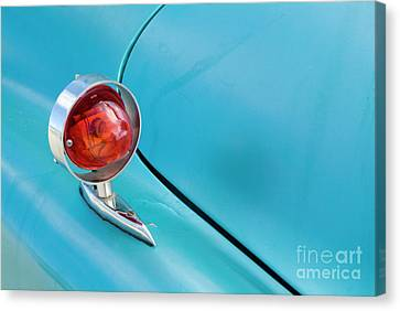 Light Of A Classic American Car Canvas Print by Sami Sarkis