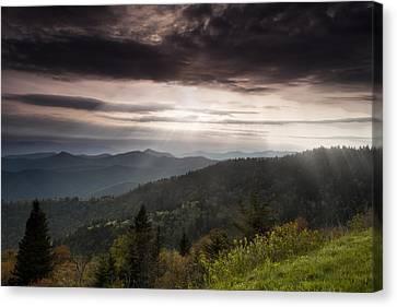 Light On The Blue Ridge Canvas Print by Andrew Soundarajan