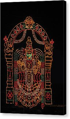 Lighted Durga Canvas Print by Umesh U V