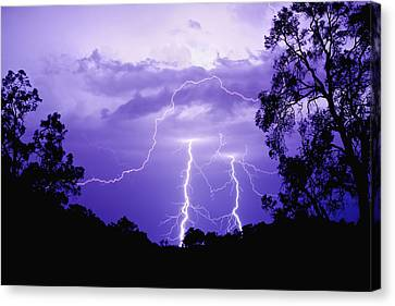 Lightening Bolts Canvas Print by Michelle Wrighton