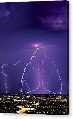 Lightening Canvas Print by Richard McGee