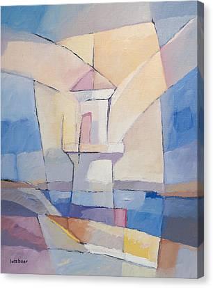 Lighthouse Abstract Canvas Print by Lutz Baar