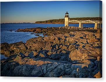 Lighthouse At Marshall Point Canvas Print by Rick Berk