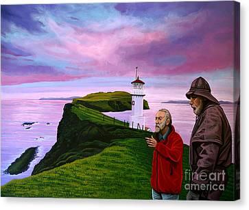 Lighthouse At Mykines Faroe Islands Canvas Print by Paul Meijering