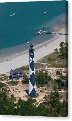 Lighthouse From Above Canvas Print by Betsy C Knapp