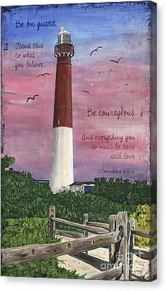 Lighthouse Inspirational Canvas Print by Debbie DeWitt
